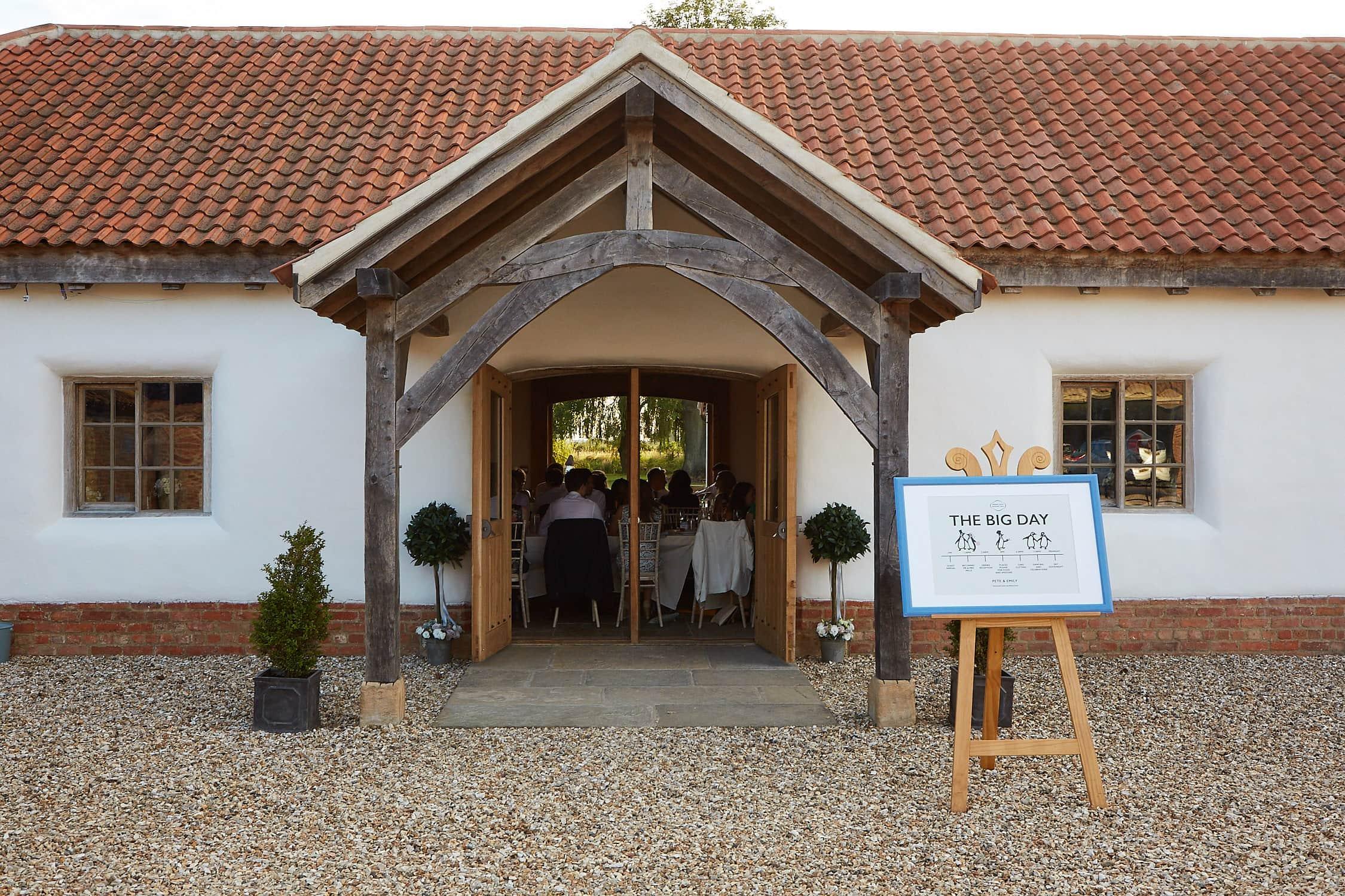 Front entrance to Abbey Farm Weddings