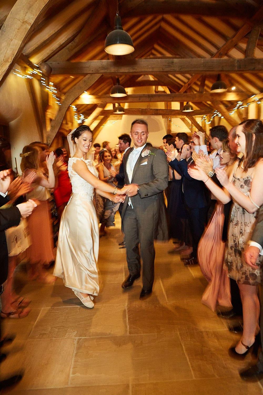 Wedding couple dancing a ceilidh