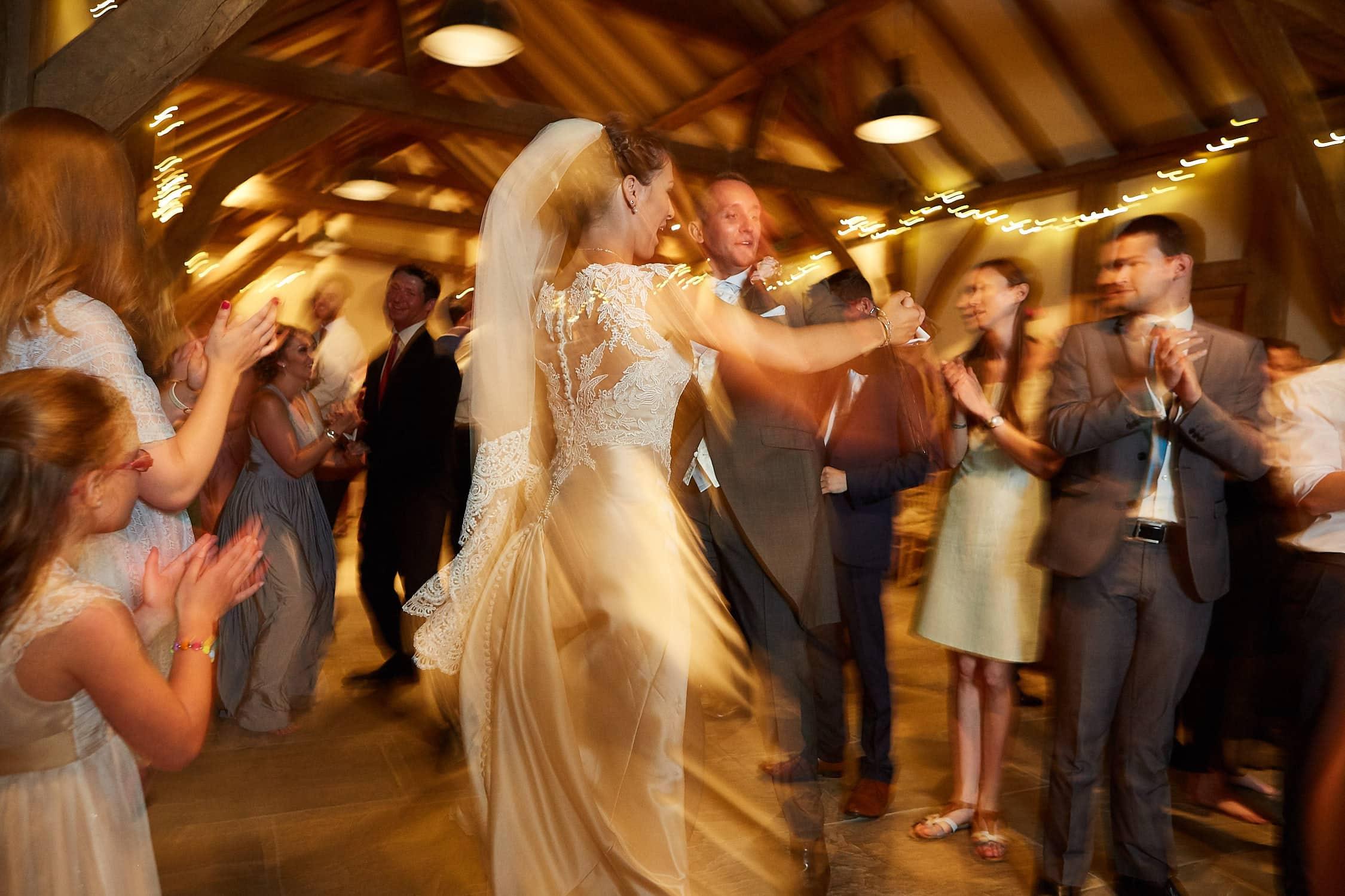 A couple dancing a Ceilidh