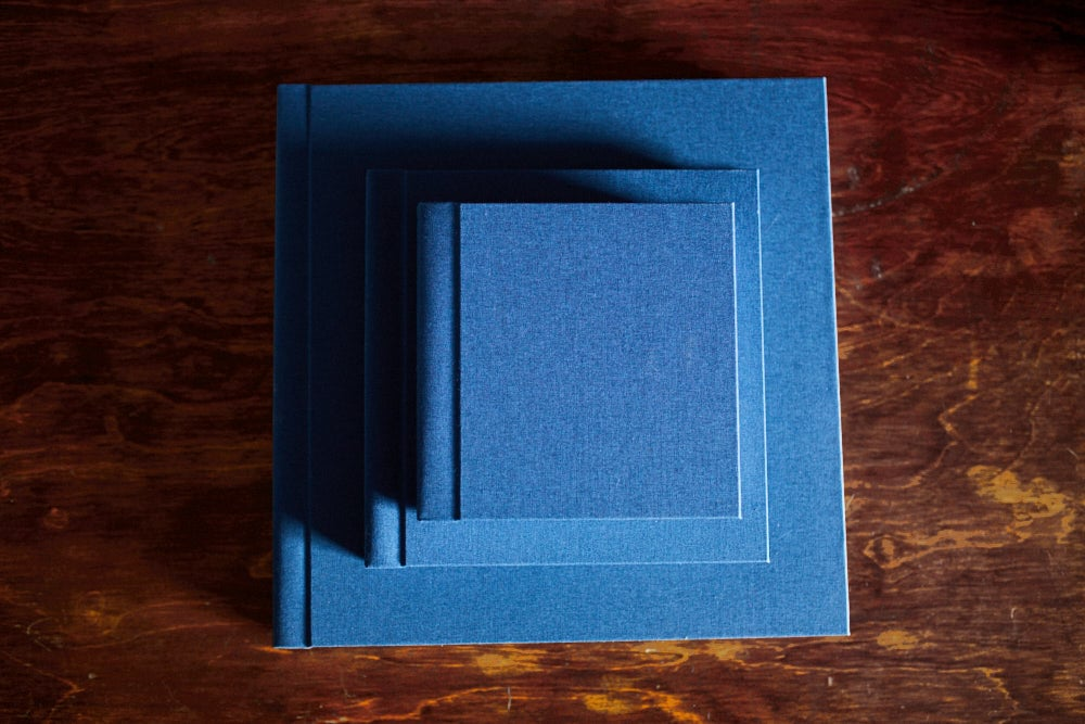 a bundle of wedding albums