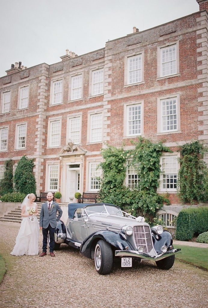 A film photograph of a wedding day at Gunby Hall Lincolnshire