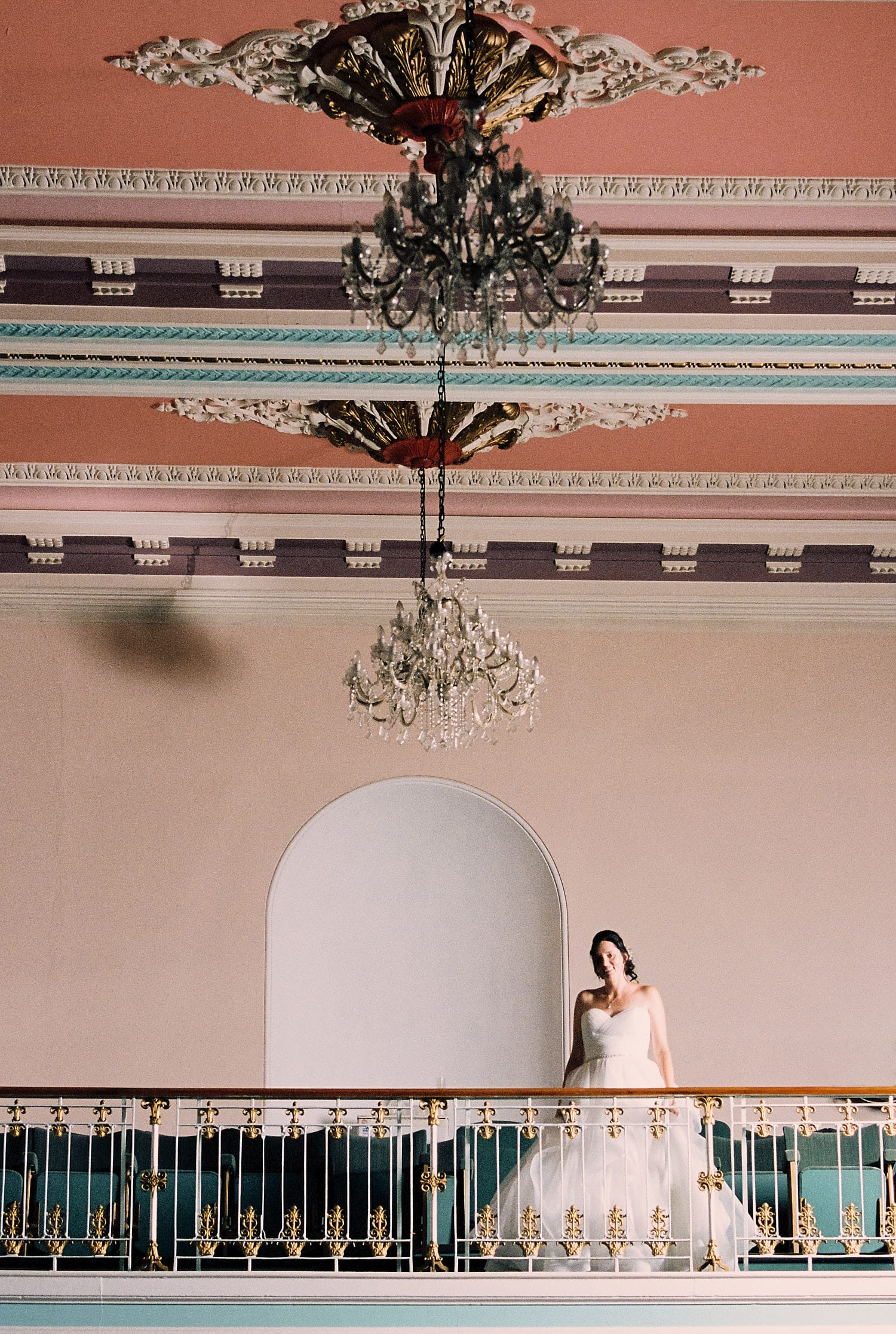 A bride poses at Louth Town Hall