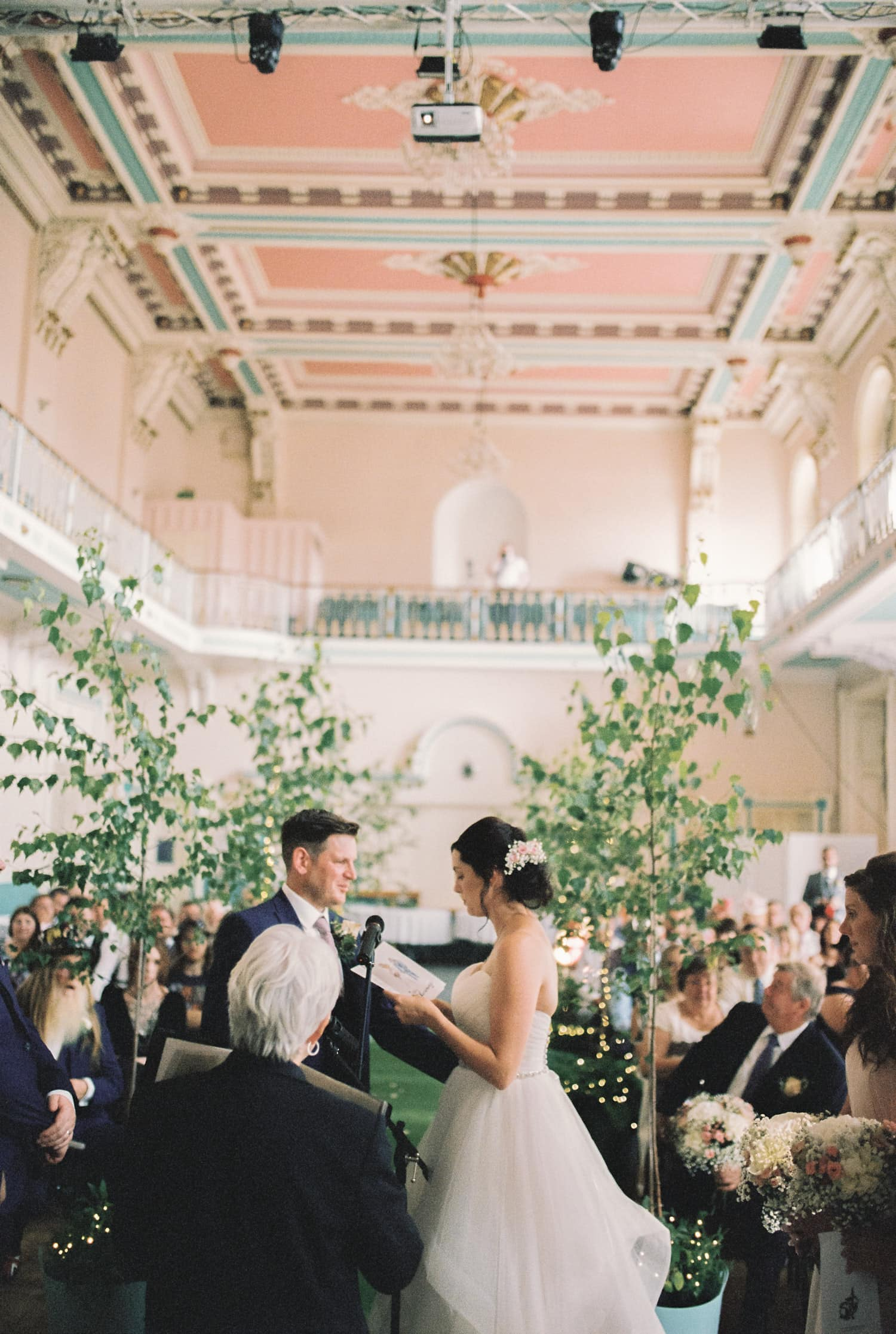 A couple getting married at Louth Town Hall, Lincolnshire