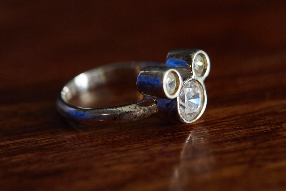 A well loved Mickey Mouse Engagement ring, with patina