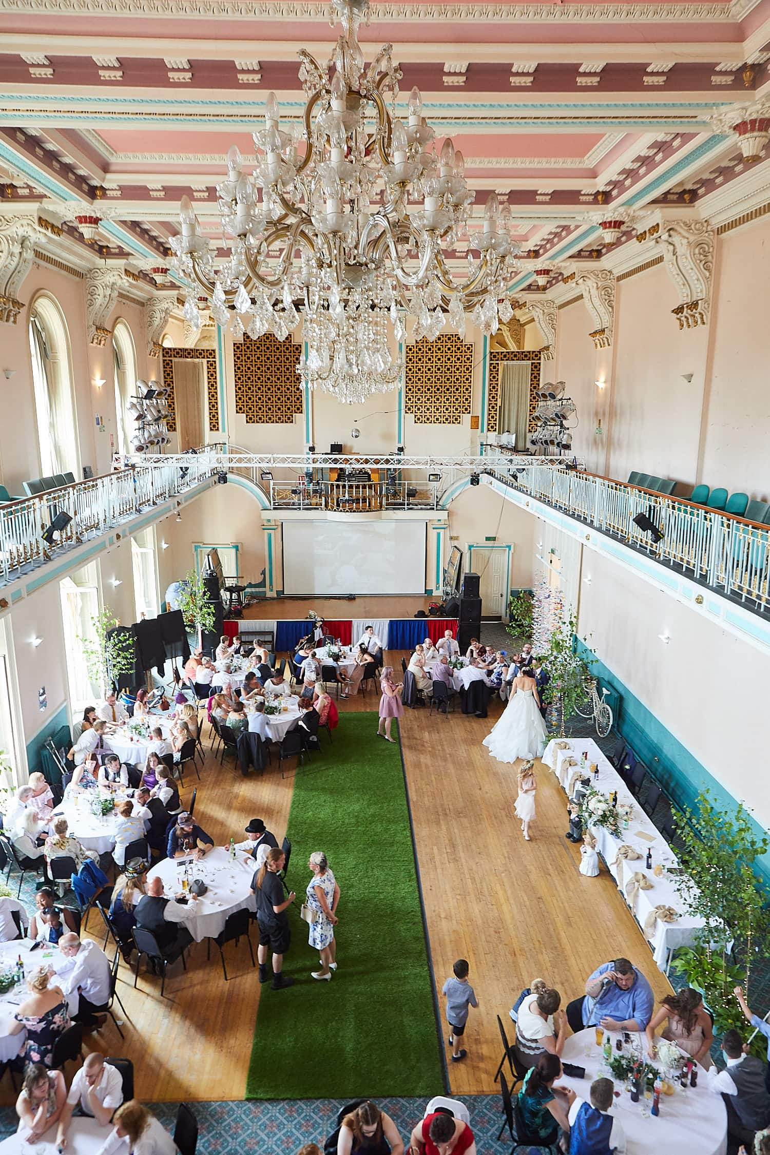 An overview of a wedding day at Louth Town Hall