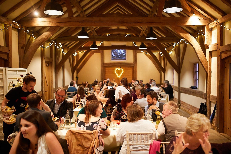 Abbey Farm wedding barn full of wedding guests