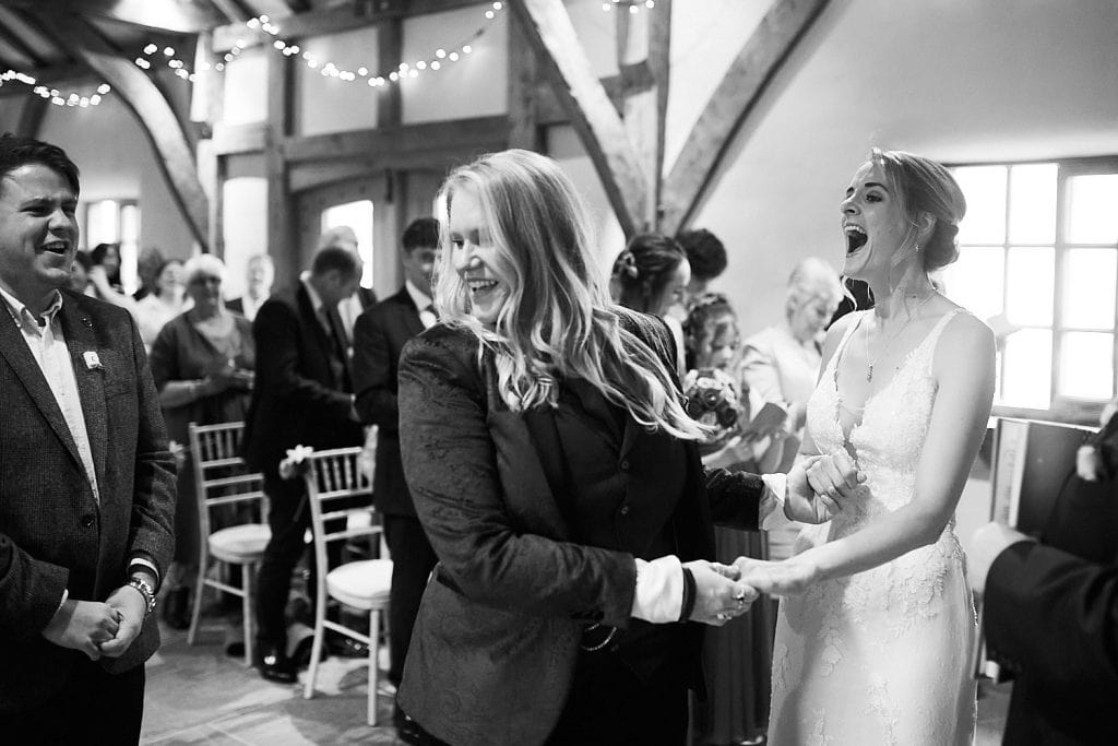 A laugh out loud moment during a gay wedding ceremony in Lincolnshire
