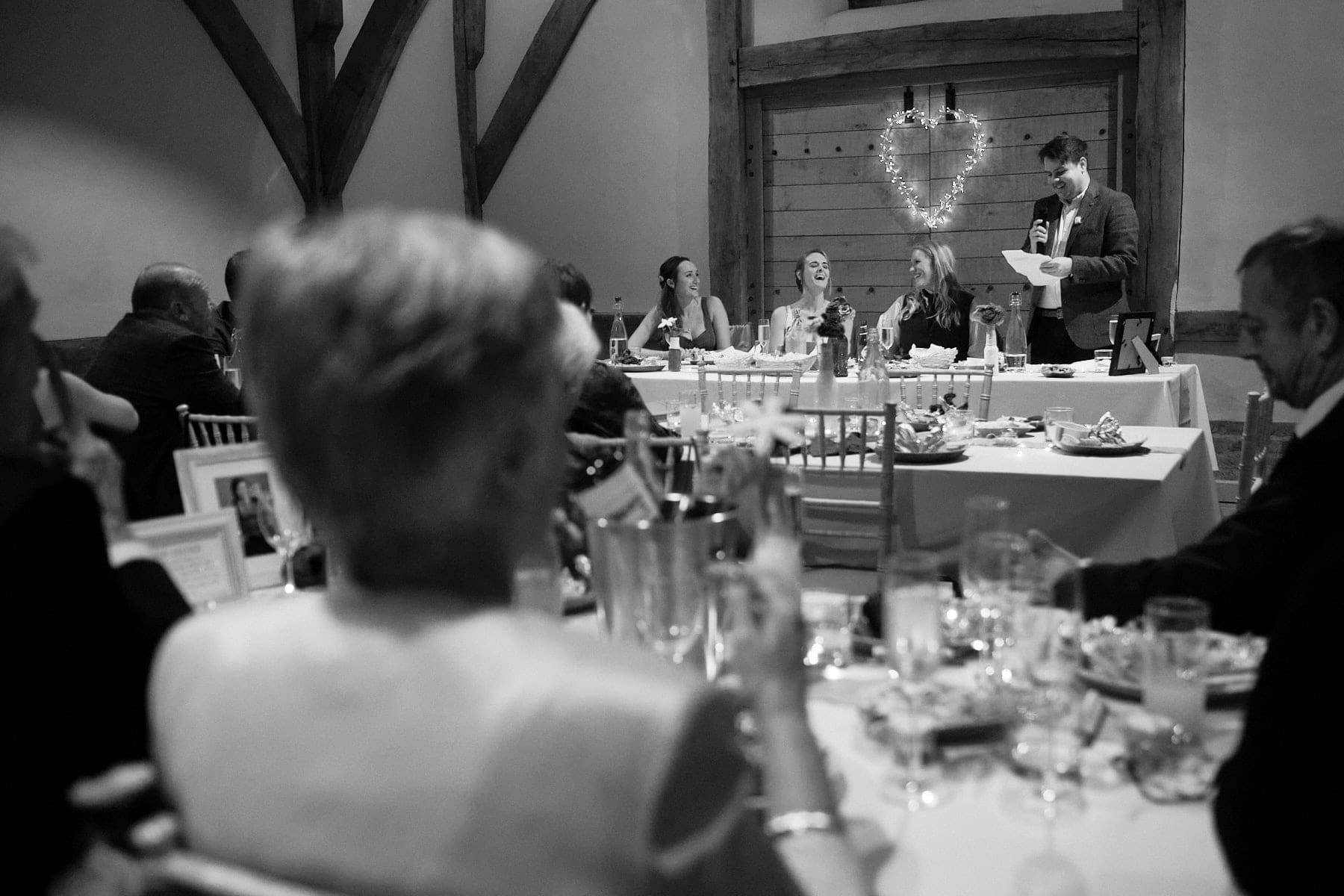 Parents watch they speeches on their daughters wedding day