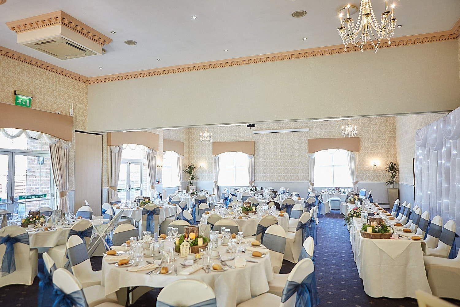 The indoor wedding reception space at Kenwick Park Hotel Louth