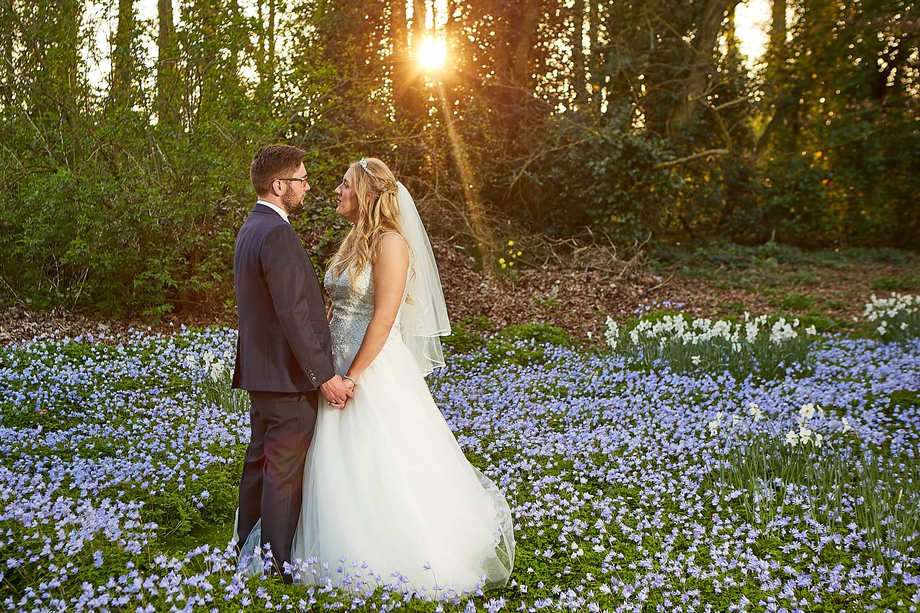 A couple spend a few minutes together at Kenwick Park Louth grounds on their wedding day.